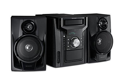 Sharp CD-BH950 Sharp 240W 5-Disc Mini Shelf Speaker System with Cassette and Bluetooth