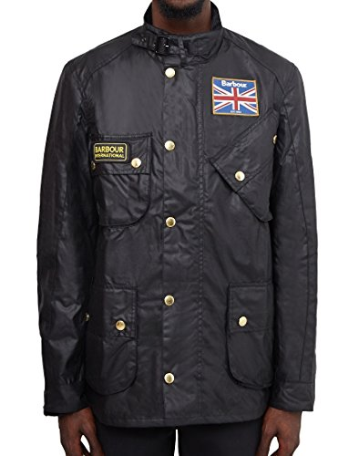 Barbour International Union Jack Jacket Black-L