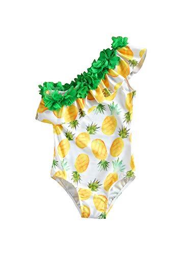 I3CKIZCE Costume da Bagno Swimwear Bambina 1-5 Anni Body Suit Stampa Anguria Cuore Elastico Backless Dolce Principessa Spiaggia Estate al Mare