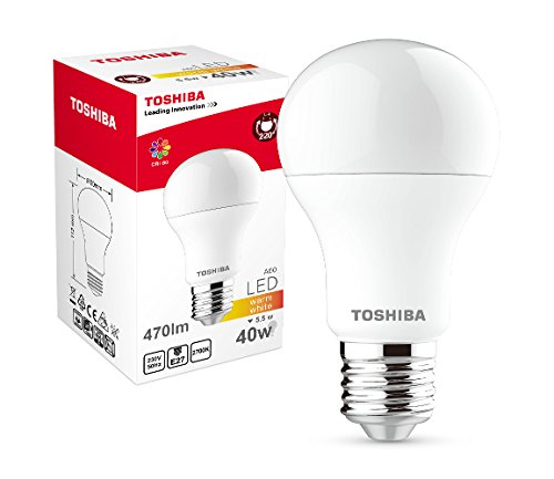 Toshiba LED bulb A60 5,5W (40W) 470lm 2700K 80Ra ND E27, Plastik, 40 W, weiss, 60 x 60 x 112 cm