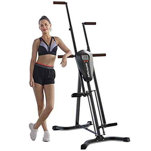 Sportsroyals Vertical Climber Exercise Machine, Folding Climbing Machine Full Body Workout Machines for Home, Stair Climber with Digital Monitor(Max Capacity 300 Lbs)