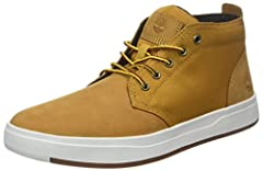 Travel at your leisure wearing the top-notch Davis Square Leather and Fabric Chukka. CORDURA® EcoMade fabric upper. Lace-up closure for an adjustable fit. 50% recycled PET mesh lining. Antimicrobial and eco-friendly. Generously cushioned OrthoLite® f...