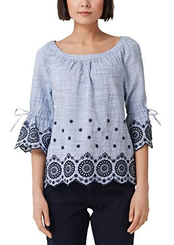 s.Oliver BLACK LABEL Damen 04.899.19.5095 Bluse, Blau (Light Blue Embroidery 53l3), 40