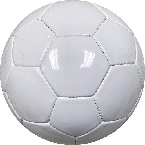 BESTSOCCERBUYS.COM All White Soccer Ball for Autographs Painting or for Playing Soccer - Official Size 5 Ball