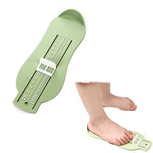 BAINA Dispositivo de medición de pies de bebé, conveniente medidor de medida para niños, tamaño de los zapatos para niños pequeños, herramienta de regla (0-8 niños)