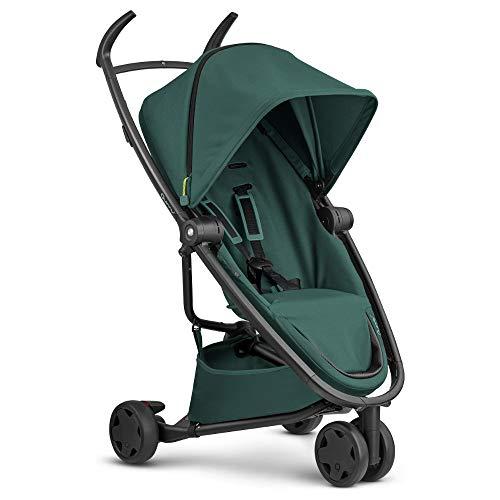 Quinny 1399971000 Zapp Flex Kinderwagen, stylischer Komfort Buggy mit 3 Rädern, angenehm leicht, kompakt faltbar und nutzbar ab circa 6 Monate, Black on Black, grün, 8.8 kg