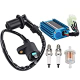 Wetenex GY6 Ignition Coil + 6 Pins CDI Box for 50cc-150cc ATV Moped Scooter Taotao Quad Go Kart