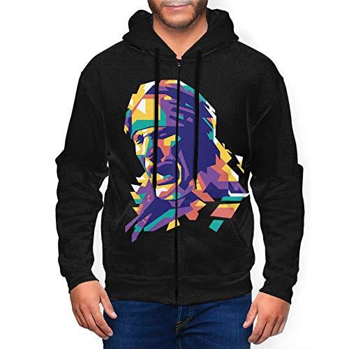 Yougou Steve Vai Hoodies Sweatshirt Full-Zip Long Sleeve Jacket Mens Casual Fashion Fleeces