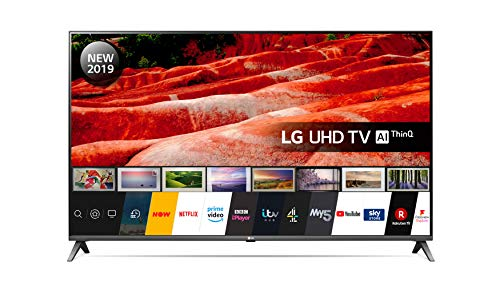 LG 55UM7510PLA 55-Inch UHD 4K HDR Smart LED TV with Freeview Play - Ceramic Black colour (2019 Model) with Alexa built-in