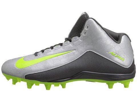 Nike Alpha Strike 2 3/4 TD Football Cleats (11, Metallic Silver/Dark Grey/Volt)