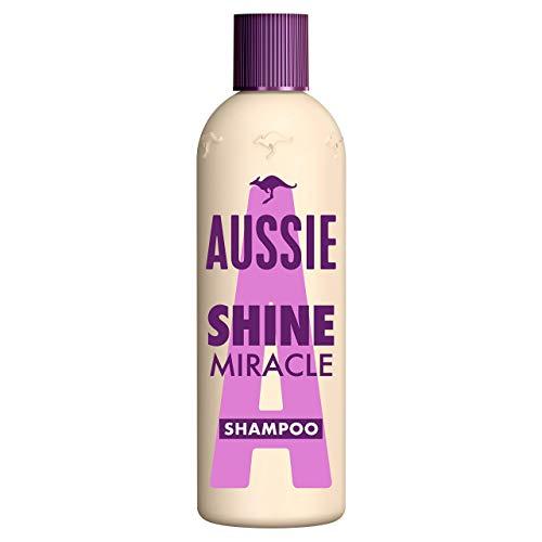 Aussie Shine Miracle Shampoo Für Glanzloses, Müdes Haar, 300ml, Shampoo Damen, Mit Stranderdbeere, Tierversuchsfrei, Haarpflege Glanz, Haarpflege Trockenes Haar, Haarpflege Für Trockene Haare