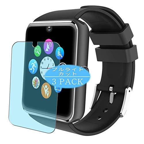 Vaxson 3 protectores de pantalla antiluz azul para Willful SW016 Smartwatch, protector de pantalla de bloqueo de luz azul [no vidrio templado] TPU flexible filtro de luz azul