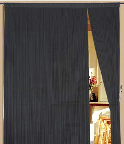 Kaikoon Fadenvorhang 90 cm x 240 cm (BxH) grau