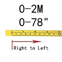 Tスロットアルミ押出プロファイルConnect Par 測定基準とインチの自己接着測定テープ鋼のマイタートラック測定テープマイターのこぎりスケールT-TrackルーターテーブルバンドのSAW木工ツール (Color : 0-2M)