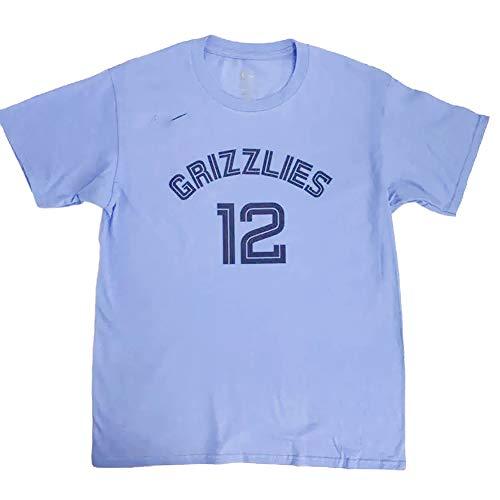 Herren T-Shirt f/ür Ja Morant 12 f/ür Memphis Grizzlies Fan Basketball T-Shirt Basketball Tragen Sie bequemes atmungsaktives Mesh Sport T-Shirt