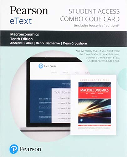 Pearson eText for Macroeconomics -- Combo Access Card (10th Edition)