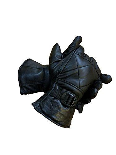 Herren Handschuhe Leder warm gefüttert Handgelenkschlaufe Größe M