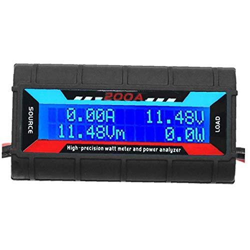 Berrywho Analizador de Potencia 200a vatios medidor de Potencia Analizador de Alta precisión con Pantalla LCD Digital de Voltaje de la energía Actual
