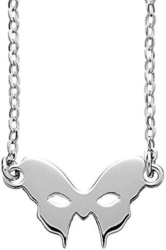 ausstich London Masquerade Maske Halskette Silber