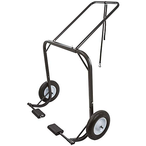 Black Ice Snowmobile Dolly Cart with Large Pneumatic Wheels