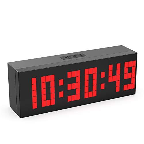 CHKOSDA Digital Alarm Clock, Countdown Clock with 2