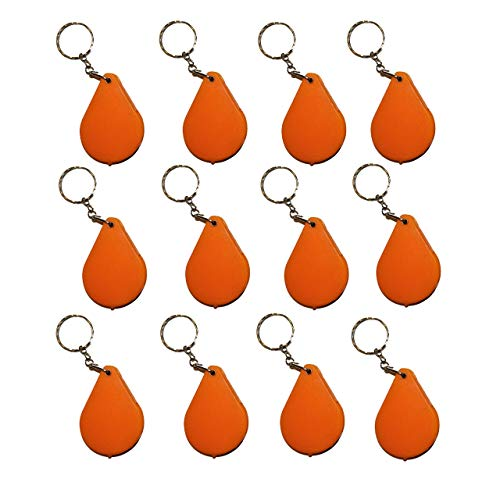 1a-becker set van 12 vergrootglas inslaggleuf aan ketting vergrootglas meegebsel kinderen oranje