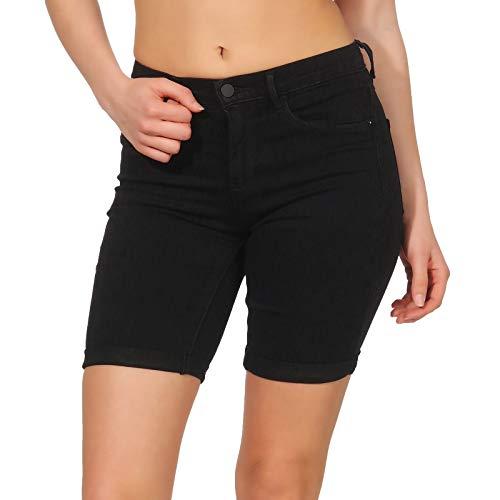 Only Onlrain Mid Long Shorts Cry6060 Pantalones Cortos, Negro (Black Black), 44 (Talla del Fabricante: X-Large) para Mujer