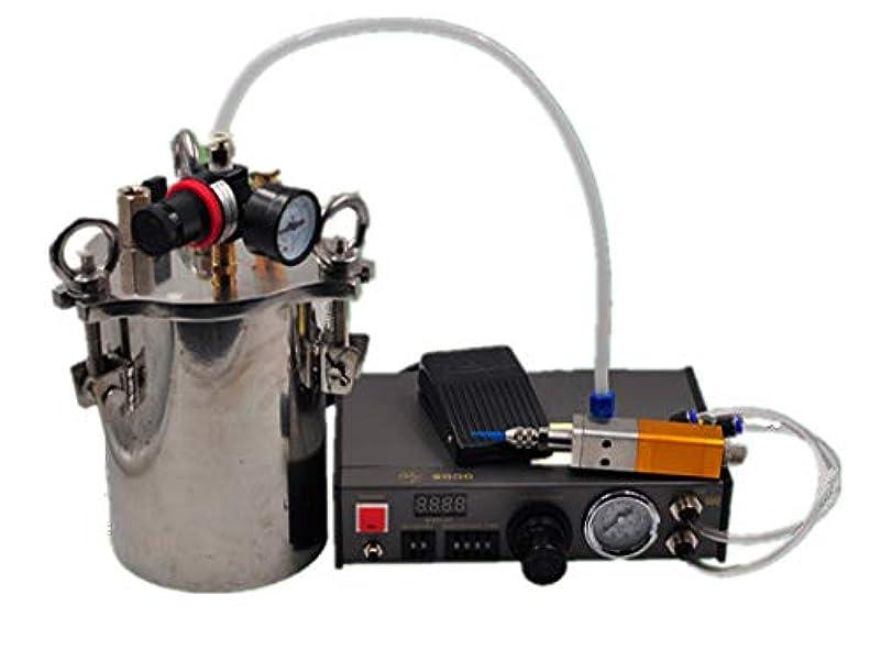 蒸気不適希望に満ちたNEWTRY グルーディスペンサーキット バックサクション式ディスペンサーバルブ 自動式 エアータンク デジタル表示 空気圧グルーガン DIY工具 塗布ツール 塗料/シリコーン/グリース/アルコール/インクなどに適用 (8L)
