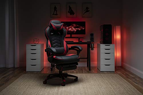 RESPAWN 110 Racing Style Gaming Chair, Reclining Ergonomic Chair with Footrest, in Red (RSP-110-RED)