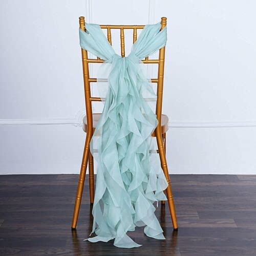 5PCS Chiffon Curly Chair Sashes Catering Wedding nkKN Party Tampa Mall for Luxury