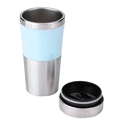 Fdit Tasse Electrique Bouilloire d'eau 350ml 12v Voiture en Acier Inoxydable Allume-Cigare Chauffage 3 Couleurs