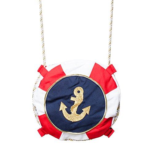 Umhängetasche Navy Girl Matrosen Damentasche Piratin Schultertasche Marine Damenhandtasche Kostüm Zubehör Damen Matrosin Tasche mit Anker