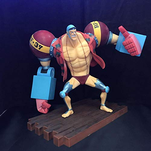 CXNY Anime 20CM One Piece Franky 20th Anniversary Ver PVC Figure Model Toy Doll Gift Collectible 2 años después Franky Figure Model