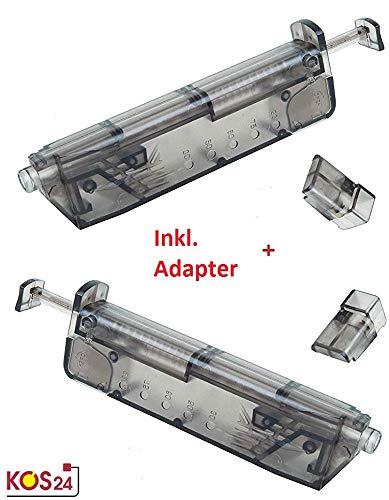KOSxBO® Set 2X Universal Speedloader mit 2 x Pistolen Adapter für schnelles und sicheres Nachladen der Premium Airsoft 6MM BB Munition - Bio BBS Kugeln