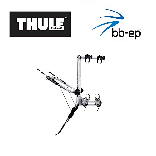 Eenvoudige Thule fietsendrager 90505215 voor het vervoer van 2 fietsen op de achterklep – geschikt voor Jeep Commander.