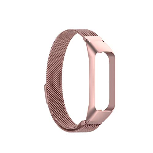 YNLRY Correa De Banda De Reloj De Reemplazo De Acero Inoxidable para -Samsung -Galaxy Fit2 SM-R220 Pulsera (Color : PK)