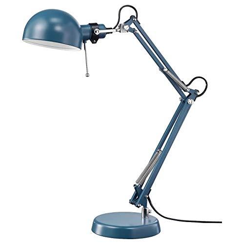 Ikea Forse - Lámpara de escritorio, color azul