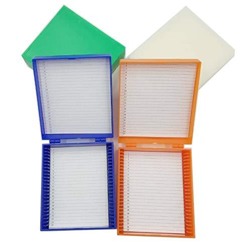 25-Place Microscope Slide Box Microslide Slide Box Pack of 4