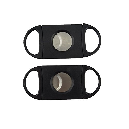 HONBAY Cigar Cutter, Guillotine Cutter - Double Blade - Plastic, Guillotine Scissors, Easy to Cut Cigars, Sharp Enough to Cut More Pillars, 2Pcs