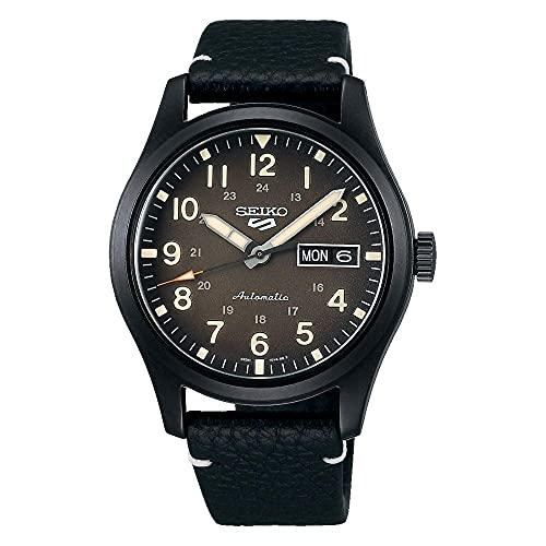 Seiko Reloj Análogo para Hombre. de Automático con Correa en Cuero SRPG41K1