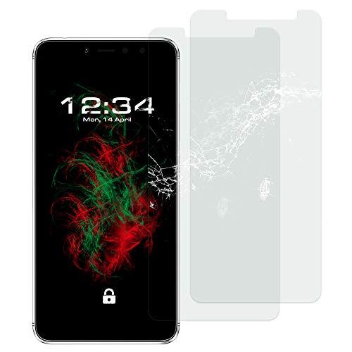 Baluum 2X Panzerglas für Xiaomi Redmi S2 Klare Bildschirmschutzfolie Panzerglasfolie 9H Echt Glas-Folie Clear Tempered Glass Screen Protector Glas Durchsichtige Schutzfolie (Glasfolie-Klar 2X)