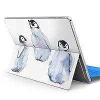 igsticker Surface pro7 (2019) pro6 pro2017 pro4 専用 スキンシール サーフェス ノートブック ノートパソコン カバー ケース フィルム ステッカー アクセサリー 保護 014775 ペンギン かわいい 動物