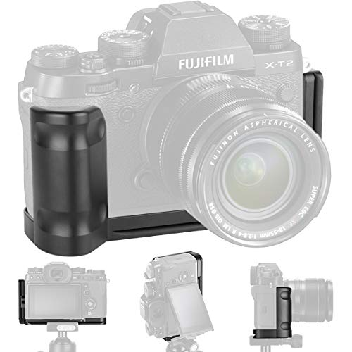 XT2 Grip Vertical Shoot Hand Grip QR Quick Release L Plate Camera Bracket Holder Compatible with Fuji Fujifilm XT2 X T2 X-T2