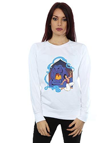 Disney Mujer Aladdin Cave of Wonders Camisa De Entrenamiento Blanco Medium