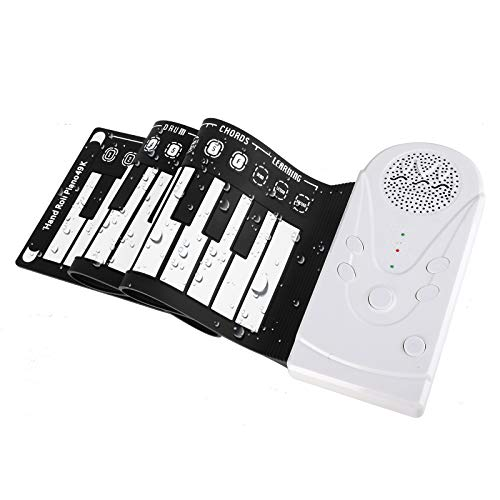 Hami Roll Up Piano Portable Electronic Piano for Kids,49 Keys Flexible Kid's Foldable Roll Up Educational Electronic Digital Music Piano Keyboard with Recording
