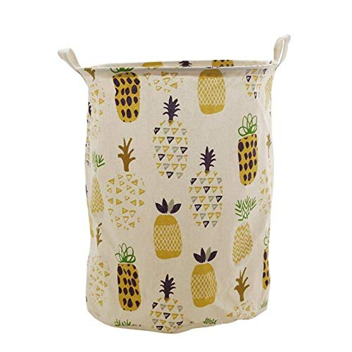 SEESEE.U Laundry Baskets Collapsible,Black Canvas Dirty Laundry Basket Folding Cactus Lovely Clothes Toys Travel Organizer Home Storage Organization