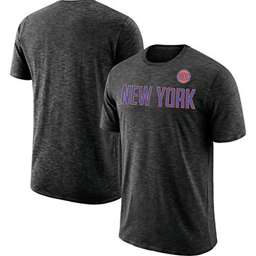 Camiseta de Baloncesto de los Hombres Los Knicks de Nueva York Casual Top Deportes Camiseta Ropa de Entrenamiento de Formación de Secado rápido Breve Camiseta de Manga,XXXL
