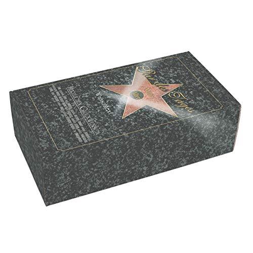 Herz & Heim® Geschenkverpackung Star des Tages zum Geburtstag mit Ihrem Wunschnamen und Glückwunschtext in verschiedenen Größen L