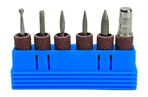 Nagelfräser für Gelnägel Acrylnägel oder Naturnägel. Diamant Bit Set für Elektrische Nagelfeile zum Schleifen Modelieren. Nagelfräser Aufsätze Zubehör für Maniküre, Pediküre, Nagelpflege