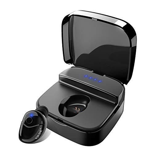 Mini Auricular Bluetooth Invisibles, Auriculares Inalambricos Manos Libres  Auriculare con Microfono HD y Cancelación de Ruido, Impermeable Auriculare In-ear con Caja de Carga, 1 Auricular
